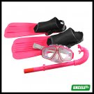 NEW Surf Surfing Scuba Diving Swimming Gear Fins Flippers + Mask + Snorkel