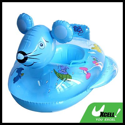 Inflatable Swimming Mouse Float Ring Boat for Kids