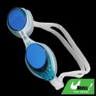 Blue Silicone Swimming Pool Swim Goggles Anti Fog