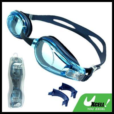 Adult Blue Swim Swimming Pool Silicone Goggles