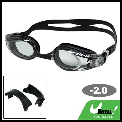 Silicone Swimming Goggles with -2.0 Diopters Corrective Lens