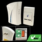 Stylish Wireless Flash Light Remote Control Doorbell White