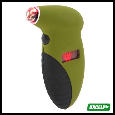 Electronic LCD Digital Tire Tyre Pressure Gauge PSI Kpa Bar (601)Army Green
