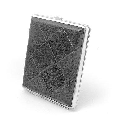 """Cigarette Box Case - """"Black Leather"""""""