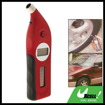 Red Solar Powered Talking LCD Digital Tire Tyre Pressure Gauge