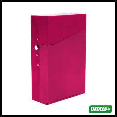 TRAVEL Aluminum Hard Cigarette Case Box 12 Cigarettes - Red