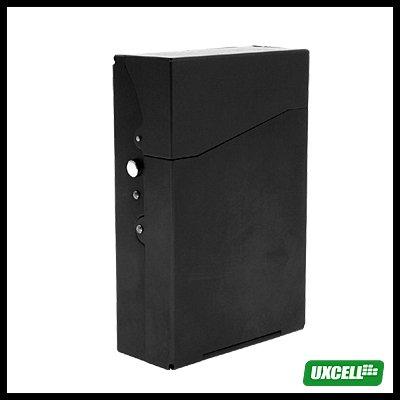 TRAVEL Aluminum Hard Cigarette Case Box 12 Cigarettes- Black