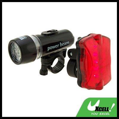 5 LED Bike Headlight Rear Warning Flash Light Bicycle Torch