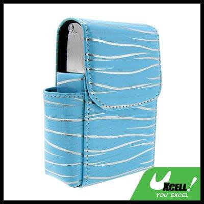 Luxury Leather w/Metallic Holder Cigar Box Case