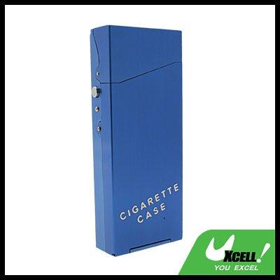 Nobby Lady's Auluminium Cigarette Case Box Holder Blue