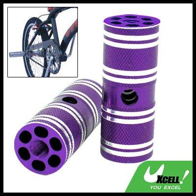 "Two Steel BMX Bike Bicycle 3/8"" Axle Foot Pegs Purple"