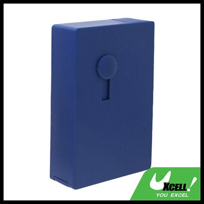 Blue Automatic Sliding 14 PCS Cigarette Case Box Holder