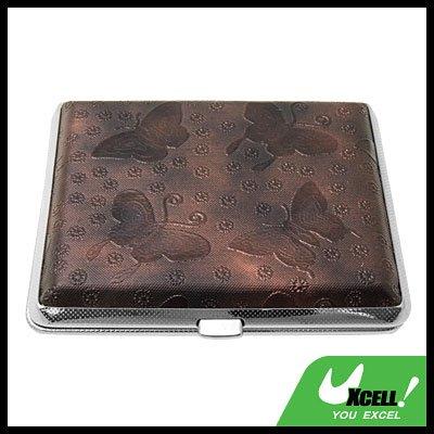 Cigarette Holder Case Leather Covered for 18 Cigarettes