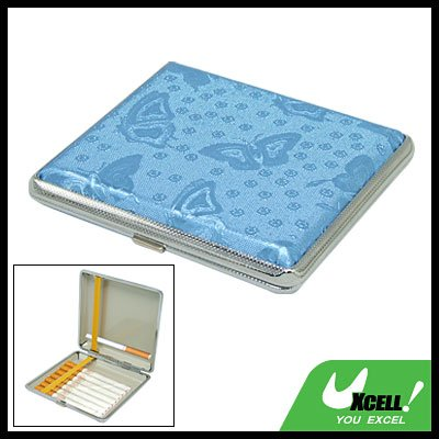 Butterfly 18 Cigarette Hard Case Metal Holder Blue