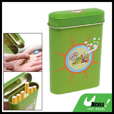 Portable Stainless Steel Pipe Tobacco Tin Cigarette Case Box