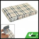 Cloth Cigarette Case Flip Up w/Aluminum Frame Inside