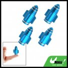 Blue 4Pcs Aluminium Bullet Car Wheel Tyre Valve Dust Cap Cover (ZHB-510)