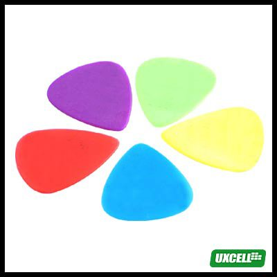 5 Pieces Plastic Guitar Picks Set
