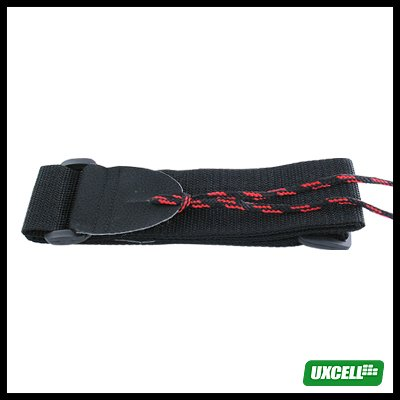 Durable Nylon Adjustable Guitar Strap - Black