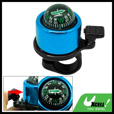 Fashion Blue Bike Bicycle Bell & Compass