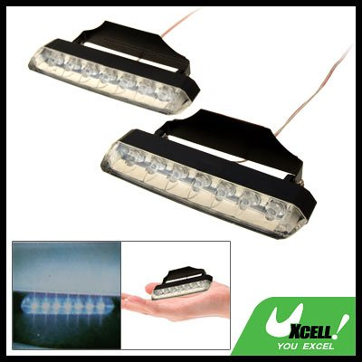 2 Pieces Glowing 7 LED Car Auto Light Lamp