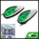 Green Crystal Mini Two Car Auto Decorative Light Lamp 12V (TS-21)
