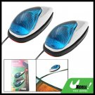 Car Auto Mount Two Mini Blue Crystal Decorative Light Lamp 12V (TS-21)
