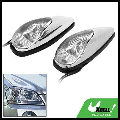 Mini Two Transparent Crystal Car Auto Decorative Light Lamp 12V (TS-21)
