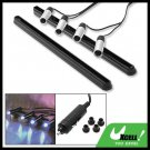 4 Super Silvery Black Car Auto Blue LED Light Lamp DX-027