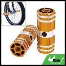 "Bicycle Bike Stunt 3/8"" Axle Aluminum Foot Pegs Golden for BMX"