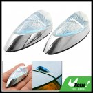 Pair Mini Blue Crystal Decorative Stick Car Auto Light Lamp