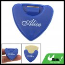 Blue Plastic Beat Guitar Pick Holder Carrying Case