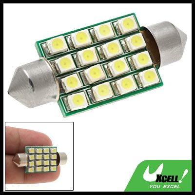 16-LED SMD Car Light Lighting System Bulb Lamp White