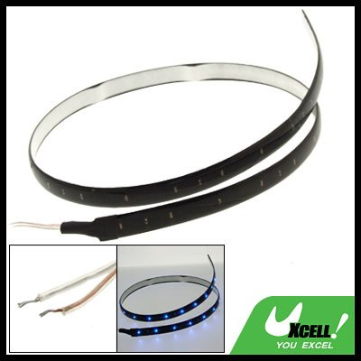 60CM Car Auto Flexible Strip Light Lamp with 30 Blue LED