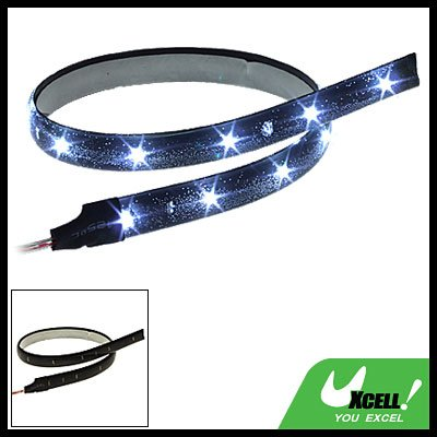 30CM Flexible Car Light Strip Auto Lamp w/ 15 White LED