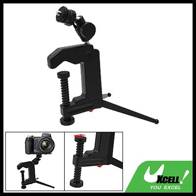 Mini Desktop Table Tabletop Swivel Camera Clamp Tripod
