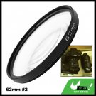 Close-up Attachment 62mm Lens f500mm Filter +2 for Nikon Canon Camera