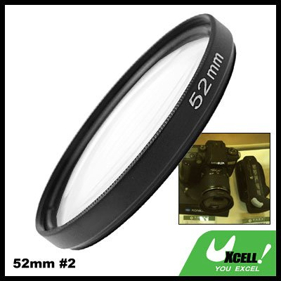 Close-up Attachment 52mm Lens f500mm Filter +2 for Nikon Canon Camera
