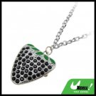 Fashion Jewelry Black Artifical Crystal Style Strawberry Necklace Watch