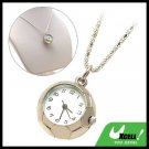Fashion Jewelry Ladies' SILVERYy Football Pendant Necklace Watch