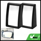 Black Two Convex Wide Angle Blind Spot Car Mirrors