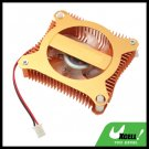 PC VGA Video Card Heat sinks Cooler Cooling Fan - Copper Color