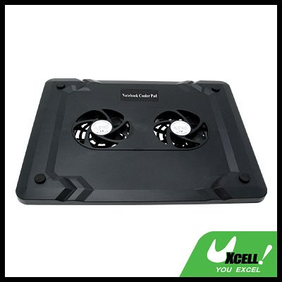 USB Powered Cooling Fan Pad for Computer Laptop Notebook - Black