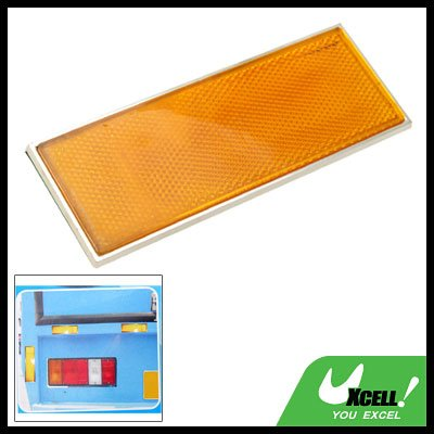 Rectangle Car Auto Yellow Sticker Guard Reflector (HL-6075)