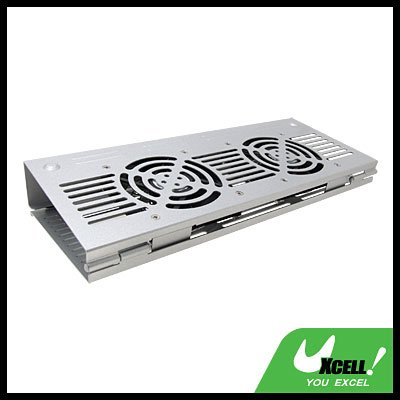 USB Powered Cooling Folder 2 Fan Cooler Pad for Notebook
