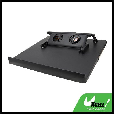 USB 2.0 Cooler Cooling 2 Fan Pad for Notebook