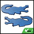 Blue Crocodile Shape Stick-on Car Reflectors Safety Pair