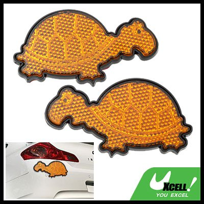 Tortoise Shaped Stop Sign Car Back Light Reflector Yellow