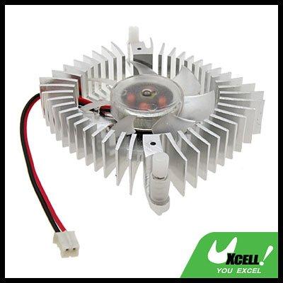 """2.3"""" PC VGA Video Card Heatsinks Silvery Cooler Cooling Fan"""