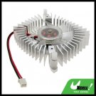 "2.3"" PC VGA Video Card Heatsinks Silvery Cooler Cooling Fan"